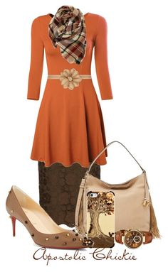 """Flare For Fall"" by apostolicchickie ❤ liked on Polyvore featuring N°21, Evelyn K, Diane Von Furstenberg, Dorothy Perkins, Casetify, Michael Kors and Christian Louboutin"