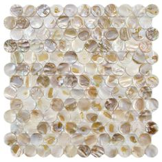 SomerTile Seashell Penny Natural Mosaic Tile (Pack of 10)   Overstock.com Shopping - Big Discounts on Wall Tiles