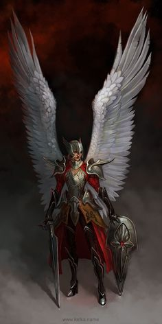 Angel - concept by Maria Trepalina, via Behance