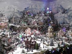 Some Alps for an Alpine Village? Christmas Tree Village, Halloween Village, Christmas Town, Christmas Fairy, Miniature Christmas, Christmas Villages, Christmas Traditions, Vintage Christmas, Christmas Holidays