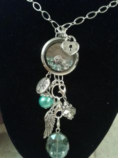 Lovin' these colors! Origami Owl Living Locket, locket extender, and dangles!!  Join the team or host a party! Sharalyn Saliger #8030 www.3hootsandaholler.origamiowl.com