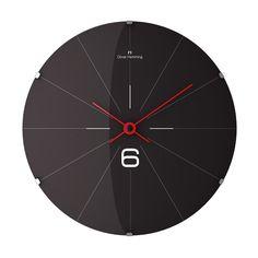 37cm Vitri Domed Glass Wall Clock - W370DG26B