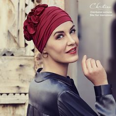 Fashion Bambou Pétale Rubis. Le bonnet chimio Fashion Bambou Pétale Rubis  de Christine Headwear ... b48540b872d