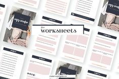 Cozy Creator Worksheet Canva Adobe by VanessaRyan.co on @creativemarket