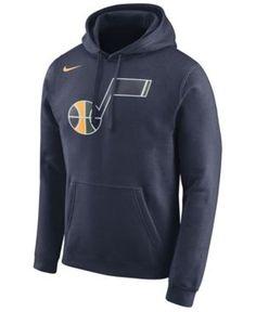 Nike Men s Utah Jazz Logo Club Hoodie - Blue XXL Fleece Hoodie e52a5e381d7d