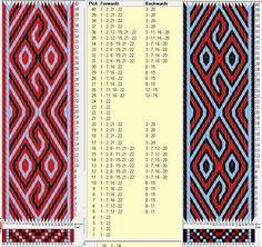 22 tarjetas, 3 colores, repite cada 40 movimientos // sed_1044 diseñado en GTT ༺❁