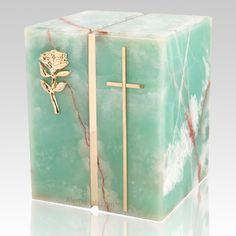 The Eternitas Onyx Companion Urn is made from pure onyx which is a semi-precious stone with a wonderful green tone. This marble is very rare in the world; it is a special marble. A wonderful natural stone urn for two people. Due to the nature of stone, patterns and colors will vary.