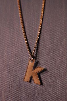 Monogram Letter Shrinky Dink Necklace