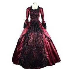 steampunk®marie antoinette gotico coloniale broccato abiti d'epoca abito da ballo del teatro del 2016 a €123.47