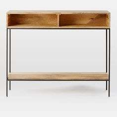 Industrial Storage Skinny Console | west elm