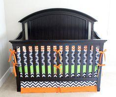 Orange, Lime green and Navy Crib Bedding, Navy Blue and orange nursery Navy Crib Bedding, Orange Bedding, Baby Girl Bedding, Orange Nursery, Bright Nursery, Grey And Coral, Green And Orange, Navy Blue, Best Bedding Sets
