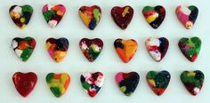 heart crayons made from crayon scraps, sugar free valentine's treats Valentine Treats, Valentine Day Crafts, Cute Valentines Day Ideas, Crayon Heart, Diy And Crafts, Arts And Crafts, Crayon Crafts, Melting Crayons, Projects For Kids