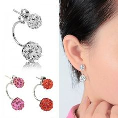 2015-New-Double-Side-EarringsFashion-Crystal-Disco-Ball-Shamballa-Stud-Earrings-For-WomenBottom-Is-Stainless-SteelTop-Quality-0