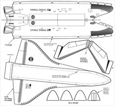NASA Space Shuttle Paper Model NASA Approved: Space Shuttle GliderAssemble a basic scale model of the 500 x 461 · 138 kB · png Source Paper Airplane Models, Model Airplanes, Space Projects, Space Crafts, Astronaut Craft, Paper Rockets, Free Paper Models, Airplane Crafts, E Mc2