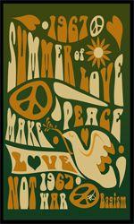 Vintage Retro Hippie Poster - 1967 Summer of Love.