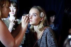 Narciso Rodriguez Spring 2015: Backstage Beauty - Backstage at Narciso Rodriguez Spring 2015