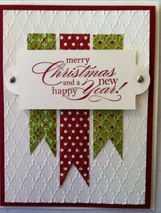 Stamped Christmas Cards, Homemade Christmas Cards, Christmas Cards To Make, Xmas Cards, Homemade Cards, Holiday Cards, Merry Christmas, Christmas Banners, Simple Christmas