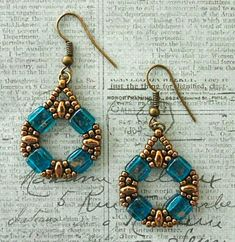 Linda's Crafty Inspirations: Coin Earrings Variation - Capri Blue: