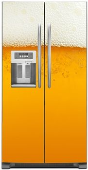 Cold Beer Refrigerator Covers, Skins & Panels | Customer Fridge Covers | Side by Side Refrigerator Cover on SALE NOW!