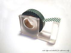 MUJI acrylic tape dispenser / holder ideal for washi tape