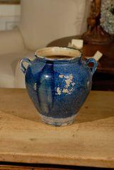 Rare Blue French Olive Pot c.1900