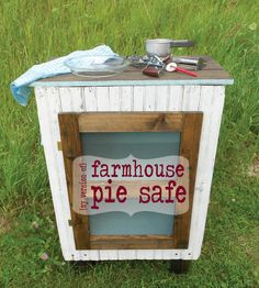 DIY:: Farmhouse Pie Safe ! Entire Cost was under twenty dollars !