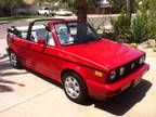 Volkswagon Cabrio- oh how I miss my little red bundle of joy.