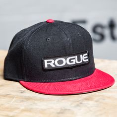The Rogue Snapback Patch Hat is a no-nonsense black ballcap featuring a red  Rogue logo patch with white print. Order yours today for quick delivery. 9a1646afa609