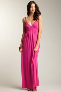 Rachel Pally Smocked Camisole Dress.  hot pink maxi dress.  summer sun dresses.  women's fashion and style.