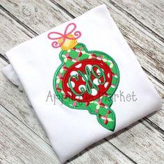 appliquemarket.com ...good website for machine embroidery designs such as this Christmas Ornament 7 applique design