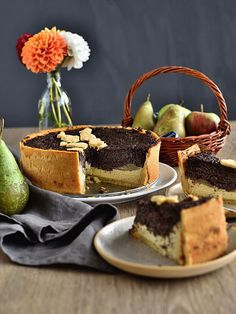 Pradobroty: Hruškový koláč s mákem a tvarohem Tiramisu, Cheesecake, Sweets, Baking, Ethnic Recipes, Blog, Christmas, Xmas, Gummi Candy