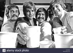 Download this stock image: MOODY BLUES UK pop group in August 1968. Photo Tony Gale. See Description below for names - CCAXMH from Alamy's library of millions of high resolution stock photos, illustrations and vectors.