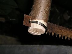 Making a bow saw - split rings on the ends make it so the parts can't be lost like bolts and nuts.