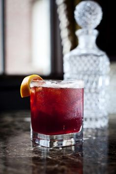 Blood and Sand, a refreshing, full-bodied scotch cocktail by Charleston barman Mick Matricciano.