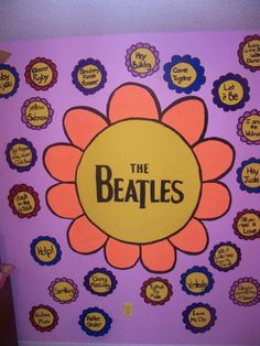 Painted this on my wall!:D #thebeatles #art #artwork #painting #paint #mural #colorful #flower #flowers
