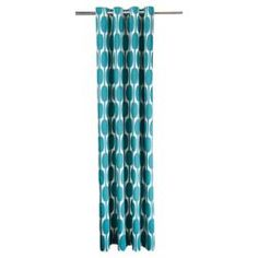 """Buy Tesco Retro Print Eyelet Unlined Curtains W167xL229cm (66x90""""), Teal from our Eyelet Curtains range - Tesco.com"""