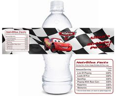 Pixar Cars Printable Water Bottle Label