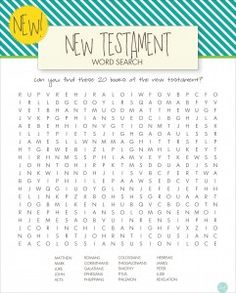 lds word searches for kids :: new testament