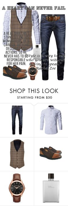 """Night out"" by danielle-vladila-nicolae ❤ liked on Polyvore featuring Jack & Jones, River Island, Michael Kors, Hermès, Uniqlo, men's fashion and menswear"