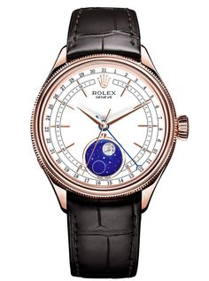 Rolex Cellini Moonphase Watch with Enamel + Meteorite Moonphase (Baselworld 2017)