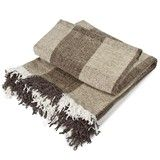 Sloane Squares Chenille Throw Natural