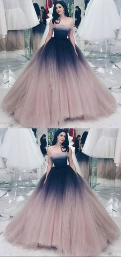 Off-the-Shoulder Ball Gown Prom Dress with Sleeves Ombre Evening Dress - Ball Gown Prom Dress - Off-the-Shoulder Ball Gown Prom Dress, Ombre Prom Dress with Sleeves, Stuning Evening Dress - Ombre Prom Dresses, Pretty Prom Dresses, Unique Prom Dresses, Cute Dresses, Beautiful Dresses, Amazing Prom Dresses, Ombre Gown, Ombre Wedding Dress, Lace Wedding