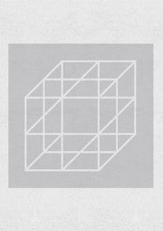 Cage - minimalist poster by Marek Sienkiewicz Geometric Poster, Minimalist Poster, Illustrations And Posters, Home Art, A3, Illustration Art, Abstract, Paper, Frame