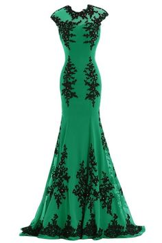 Sunvary Black and Green Mermaid Mother of the Bride Dress Prom Gowns