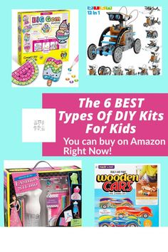 Are you looking for DIY Kits for kids as gifts for boys and girls? These DIY Kits activities are perfect for Easter and Christmas presents as well. Paper Gift Box, Diy Gift Box, Polymer Clay Crafts, Resin Crafts, Activities For Kids, Crafts For Kids, Doll Dress Patterns, Kits For Kids, Upcycled Crafts