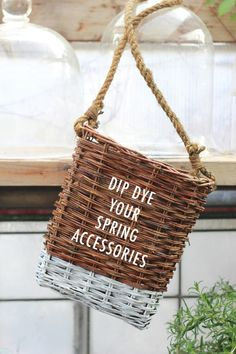 Dip dyed basket - this shot right up to the top of my to do list!!