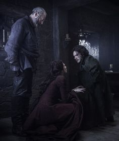 Jon, Melissandre & Davos 6*3