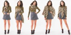 How to Wear a Blanket Scarf - 12 Ways to Tie a Blanket Scarf