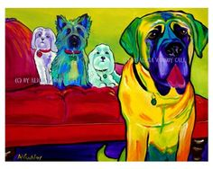 @dawgpainter on etsy- such fun animal paintings