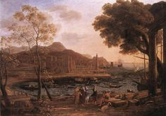 Claude Lorrain Paintings | Harbour Scene with Grieving Heliades
